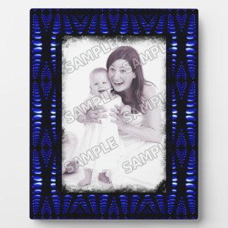Groovy Cobalt Blue Lava Bubbles Add Your Photo Plaque