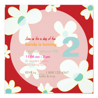 Groovy Daisies/DIY background/Birthday Party Card