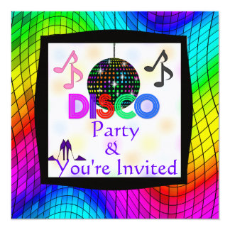 Groovy Disco Dancing Party Invitation