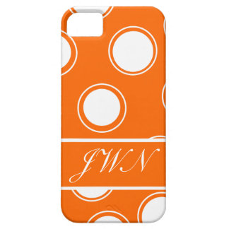 Groovy Dots #11 with monogram iPhone 5 Case