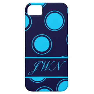 Groovy Dots #3 with monogram iPhone 5 Cases