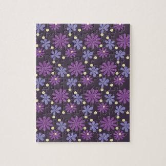 Groovy Floral dark Jigsaw Puzzle