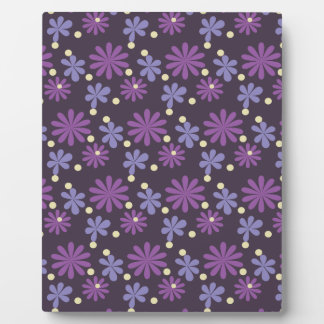 Groovy Floral dark Plaque