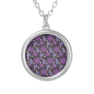 Groovy Floral dark Silver Plated Necklace