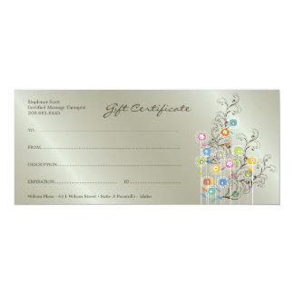 Groovy Flower Garden Silver Gift Certificate Card