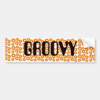 Groovy Flowers Bumper Sticker