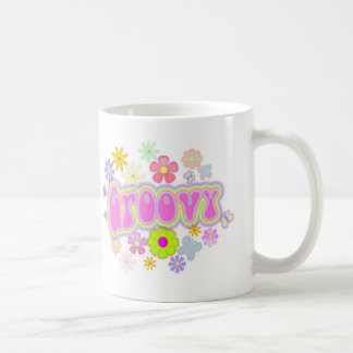 Groovy Flowers N Butterfly Coffee Mug 11 oz.