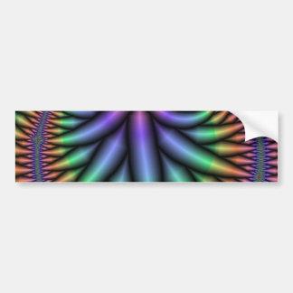 Groovy Fractal Bumper Sticker