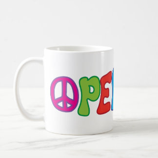 Groovy Fun Colorful 60s Style Peace Symbol Coffee Mug