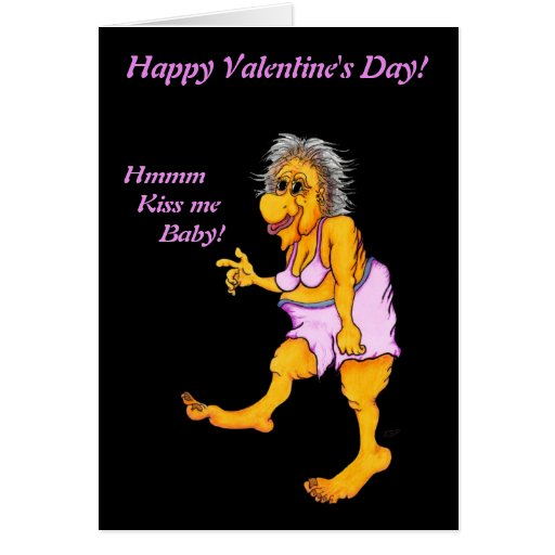 Groovy Granny - Happy Valentine´s Day! Kiss ME! Greeting Card