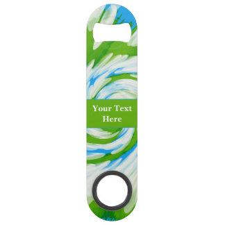 Groovy Green Blue Tie Dye Swirl