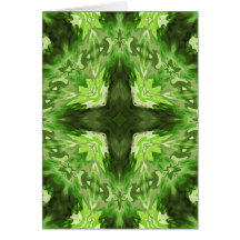 Groovy Green Graphic Greeting Card