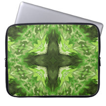 Groovy Green Graphic Laptop Sleeves