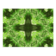 Groovy Green Graphic Postcard