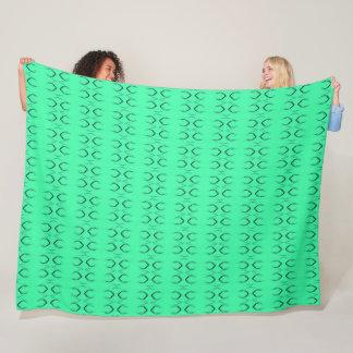 Groovy Green Lizard Scales Satin Pattern Fleece Blanket