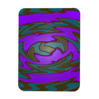 groovy green purple abstract flexible magnet