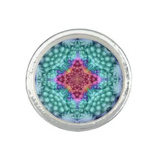 Groovy Groovy Blue  Kaleidoscope   Custom Rings