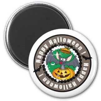 Groovy Happy Halloween Bat & Pumpkin Fridge Magnets