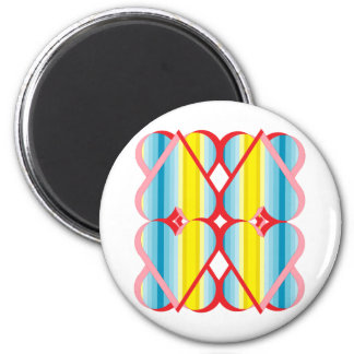 Groovy Hearts 6 Cm Round Magnet
