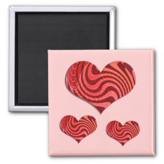 groovy hearts refrigerator magnet