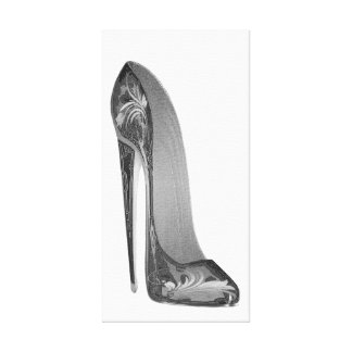Groovy High Heel Stiletto Shoe Art Canvas Print