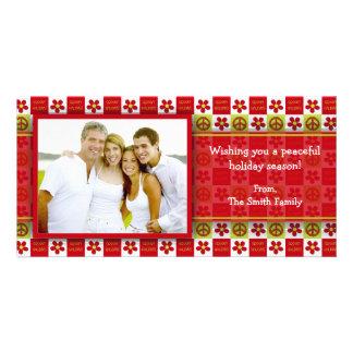 Groovy Holiday Photo card