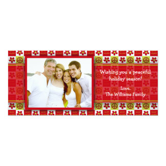 Groovy Holiday Photo Card 10 Cm X 24 Cm Invitation Card