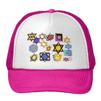 Groovy Jewish Stars Happy Hannukah! Cap