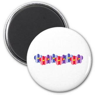 Groovy Lei 6 Cm Round Magnet
