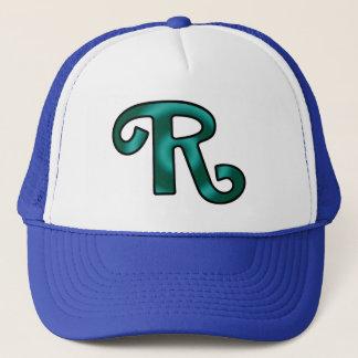 Groovy Letter R Initial Trucker Hat