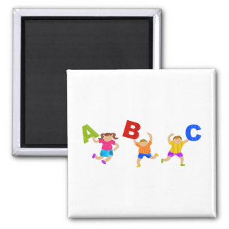Groovy Letters Square Magnet