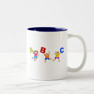 Groovy Letters Two-Tone Mug