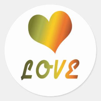 Groovy Love Classic Round Sticker
