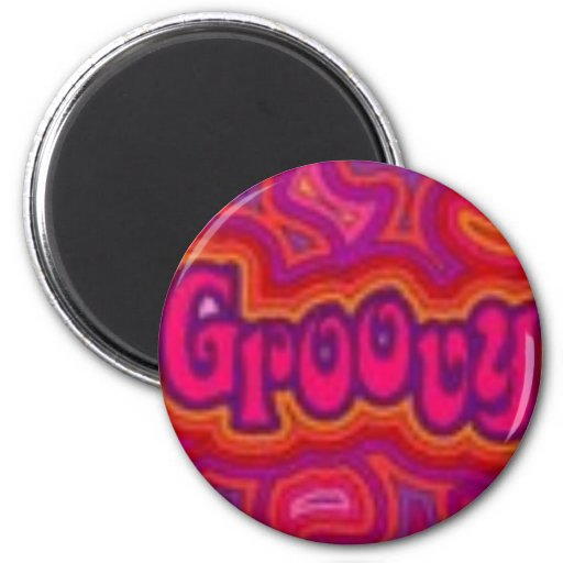 GROOVY REFRIGERATOR MAGNETS