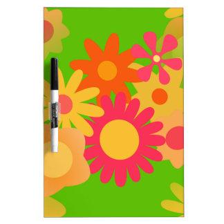 groovy mod floral dry erase board