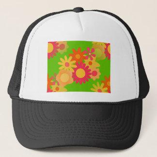 groovy mod floral trucker hat