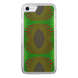 Groovy Mod Green Abstract Carved iPhone 7 Case