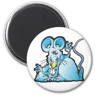 Groovy Mouse 6 Cm Round Magnet