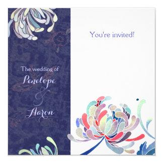 "Groovy Mums Contemporary Wedding Invitations 5.25"" Square Invitation Card"