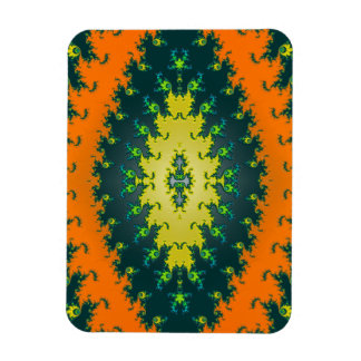 groovy orange abstract rectangular photo magnet