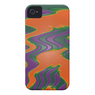 groovy orange purple teal Case-Mate iPhone 4 case