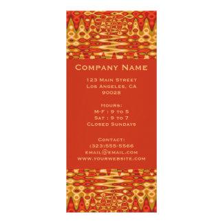 groovy orange customized rack card