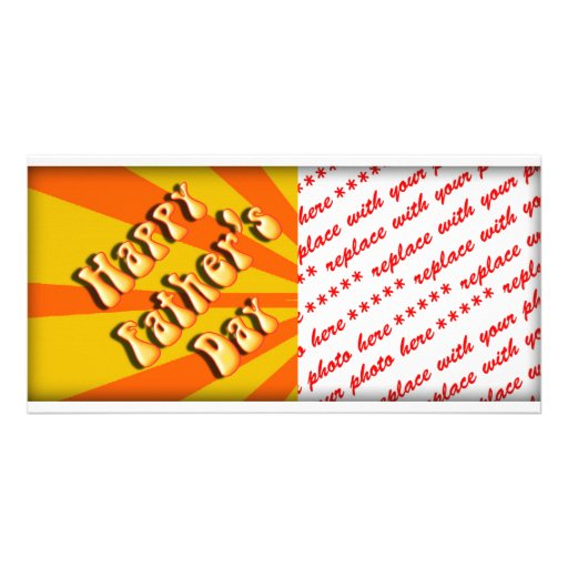 Groovy Orange Retro For Father's Day Photo Card