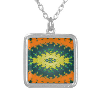 Groovy Orange Yellow Black Abstract Necklaces