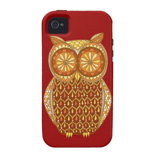 Groovy Owl iPhone 4/4S Case-Mate Vibe Case