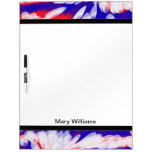 groovy patriotic red white and blue Dry-Erase board