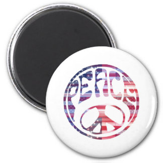 Groovy Peace Sign Refrigerator Magnet