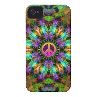 Groovy Peace Sign Rainbow Joy iPhone 4 Case
