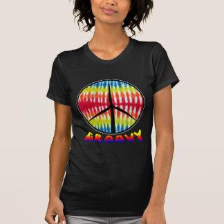 Groovy Peace Turbine - Womens Dark T-shirt
