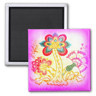 groovy pink palm tree magnet
